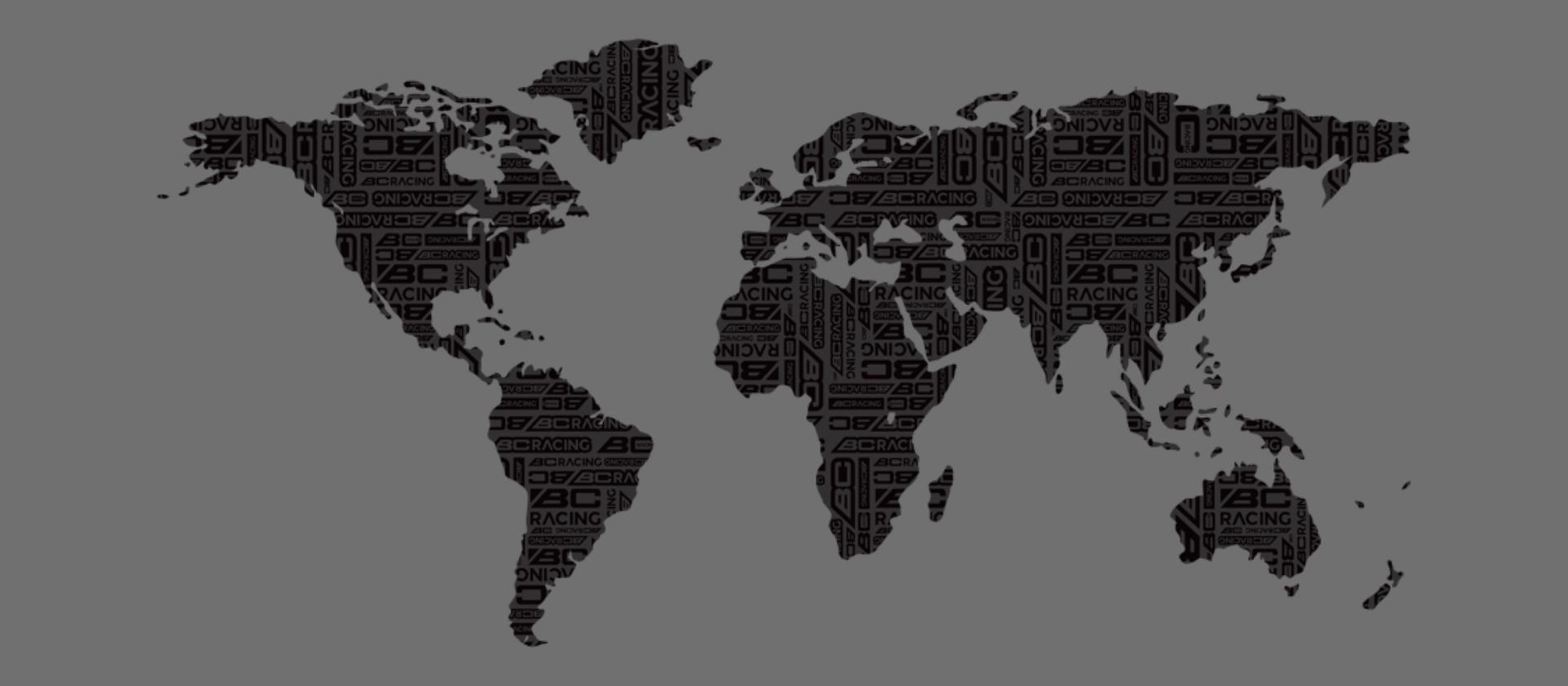 BC Racing Distributor Map